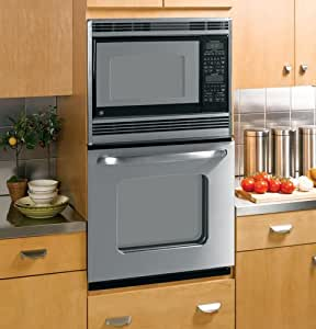 """GE JKP90SPSS 27"""" Stainless Steel Electric Combination Wall Oven"""