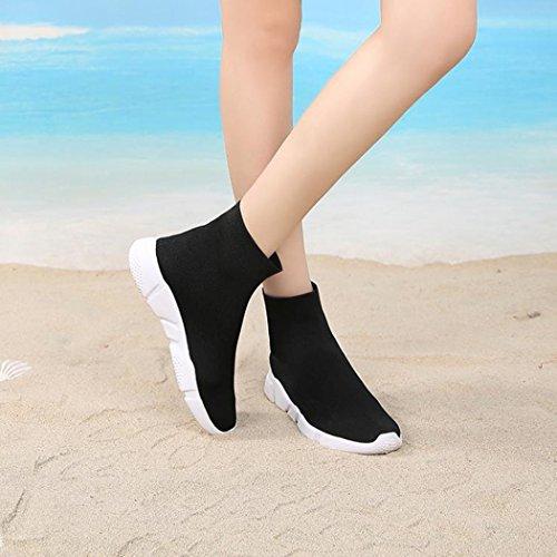 Samsay Damesschoenen Ademend Lichtgewicht Instapper Laarzen Outdoor Outdoor Sneakers Wandelschoenen Zwart