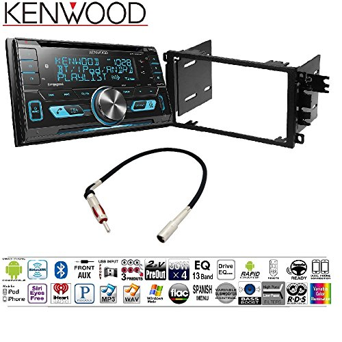 Kenwood Excelon DPX793BH Double Din CD Receiver with Built in Bluetooth HD Radio 2001-2012 Chevy Silverado Tahoe Suburban 2 DIN CAR Stereo Install Dash KIT