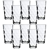 Circleware Spot Huge Drinking Glasses, Set of 10, 16 oz., Clear