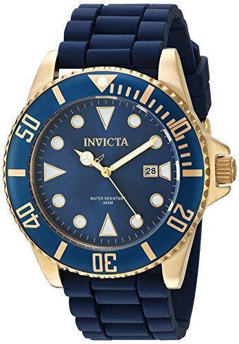 Invicta Men's Pro Diver Stainless Steel Quartz Watch with Silicone Strap, Blue, 21 (Model: 90304) (Invicta Watches For Men Sale)