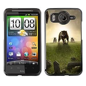 TopCaseStore / la caja del caucho duro de la cubierta de protección de la piel - Bear Meadow Grass Sunset Fantasy - HTC G10