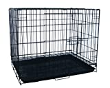 YML 24-Inch Foldable Light Duty Door Dog Crate with WireBottom Grate and Plastic Tray, Black Review