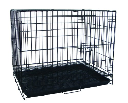 YML 30-Inch Foldable Light Duty Door Dog Crate with Wire Bot