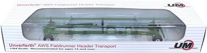 SpecCast 1:64 *UNVERFERTH* AWS Fieldrunner Header Cart Transport *BLACK* NIB!