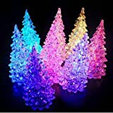 HuaYang Pretty Christmas Tree Ice Crystal Color Changing LED Desk Decor/Table Lamp
