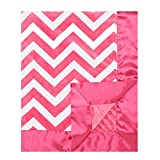 My Blankee Chevron Minky Raspberry/White w/ Minky Dot - Best Reviews Guide