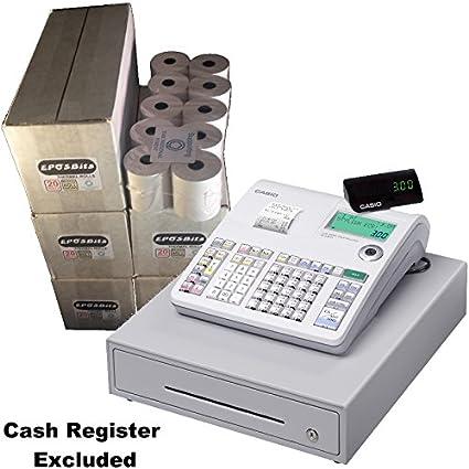 eposbits® marca rollos para que se ajuste a Casio SE-S300 SES300 SES se s S300 300 Caja Registradora – 100 rollos: Amazon.es: Oficina y papelería