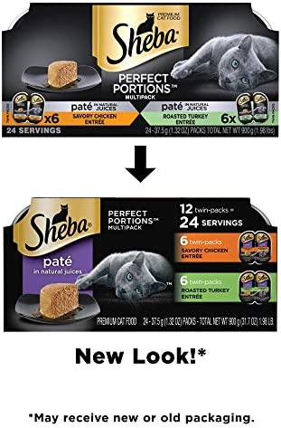 Sheba Perfect Portions Variety Pack Savory Chicken and Roasted Turkey Entrees Wet Cat Food
