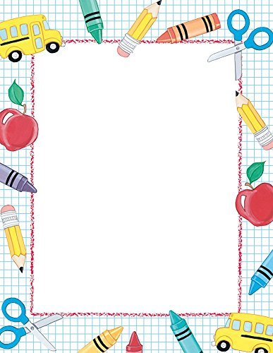 Great Papers! School Stuff Letterhead, 80 Count, 8.5