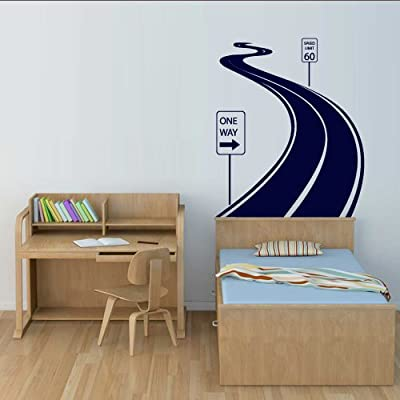 Wall Decal Vinyl Sticker Decals Art Decor Design Road Track Car Band Traffic Sign Nursery Kids Gift (M1424): Home & Kitchen