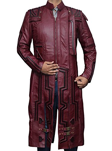 Vb Costume - Superhero Costume PU Leather Jacket Collection (XL, Star Lord Coat)
