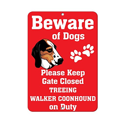 Fastasticdeals Treeing Walker Coonhound Dog Beware, used for sale  Delivered anywhere in Canada