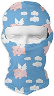 deyhfef Flying Pigs Balaclava UV Protection Windproof Ski Face Masks for Cycling Outdoor Sports Full Face Mask Breathable