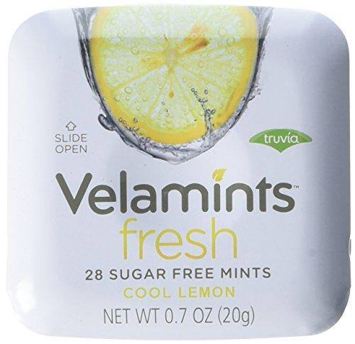 (Velamints Fresh Sugar Free Mints Tin, Lemon, 28 count, 20 Gram (Pack of 6 ))