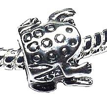 Charm Buddy Girls' Silver Plated Frog Charm Bead Fits Pandora Bracelets Jewelry