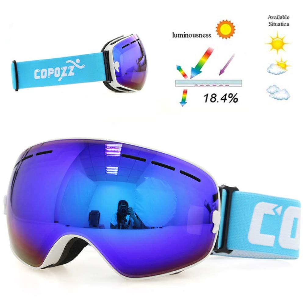 HUAXING Ski-Brille Männer mit Frameless Frameless Frameless austauschbare Lens, Skiing-Snowboard-Begierung mit OTG, Anti-Nebel, 100% UV, Helm Kompatibilität für Unisex Frauen Männer,schwarz B07MM3YPFP Skibrillen Einzelhandelspreis 30dac2