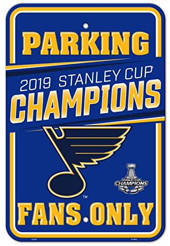 Fremont Die NHL St. Louis Blues Unisex NHL St. Louis Blues 2019 Stanley Cup Champions Parking SignNHL St. Louis Blues 2019 Stanley Cup Champions Parking Sign, Team Colors, 12