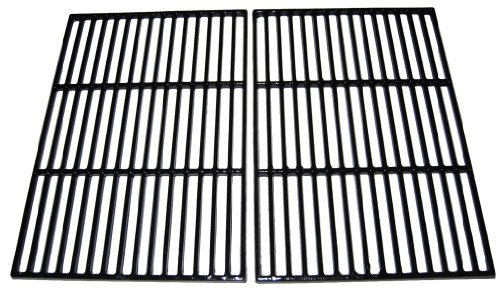 Music City Metals Matte Cast Iron Cooking Grid Replacement for Select Brinkmann and Grill Chef Gas Grill Models, Set of 2
