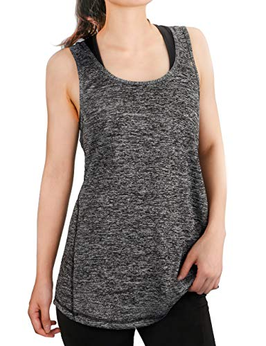 Dafunna Womens Yoga Tank Top Activewear Workout Racerback Sleeveless Sport Running Shirts