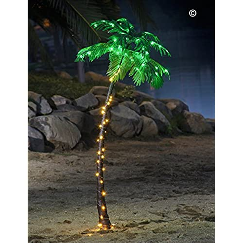 Outdoor Palm Tree Light Outdoor lighted palm trees amazon lightshare 5ft palm tree 56led lights decoration for home party christmas nativity pool workwithnaturefo