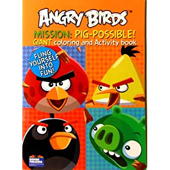 Angry Birds Coloring Book Mission Pig Possible With 96 Pages By
