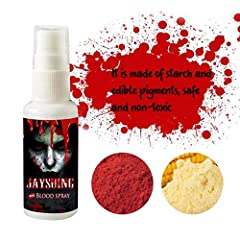 Net Weight:30ML/1 Fl.ozFeatures: 1. Made of starch and edible pigments, safe and non-toxic, 30ML/1FL.oz.2. Our fake blood features an incredibly vibrant blood red color that looks and flows like the real thing. It s great for creating frightf...