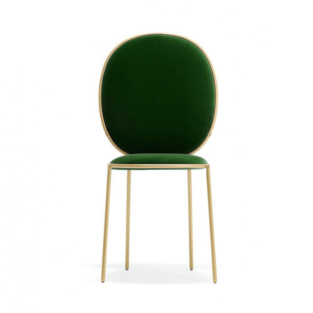 ダイニングチェア チェア Chair ッション コーヒーホールFlocking Hotel金属の大人のクラシックシンプルな形 TINGTING (色 : A-dark green) B07F9TFNS1 A-dark green A-dark green