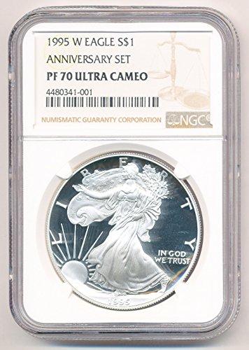 1995 W American Silver Eagle $1 PF70 NGC