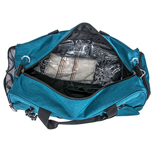 791d2b042e Sports Gym Bag Travel Duffel with Shoes Compartment for Men Women (green)