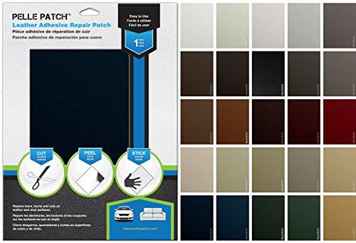 Leather vinyl adhesive repair patch brown dark for Reparar sofa polipiel