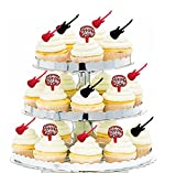 24pk Birthday Party Food / Appetizer /Desert /Cupcake Decoration Toppers (Guitar & Birthday)