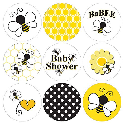 Bumble Bee Baby Shower Favor Labels - 180 Stickers