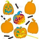 Baker Ross Calamite scratch art Zucca di Halloween per bambini (confezione da 12)