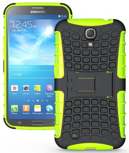 NAKEDCELLPHONE NEON LIME GREEN GRENADE TPU SKIN HARD CASE STAND FOR SAMSUNG GALAXY MEGA 6.3 (AT&T, Sprint, MetroPCS, US Cellular, Unlocked, i9200, i9205, - Samsung Mega Galaxy Cases Att