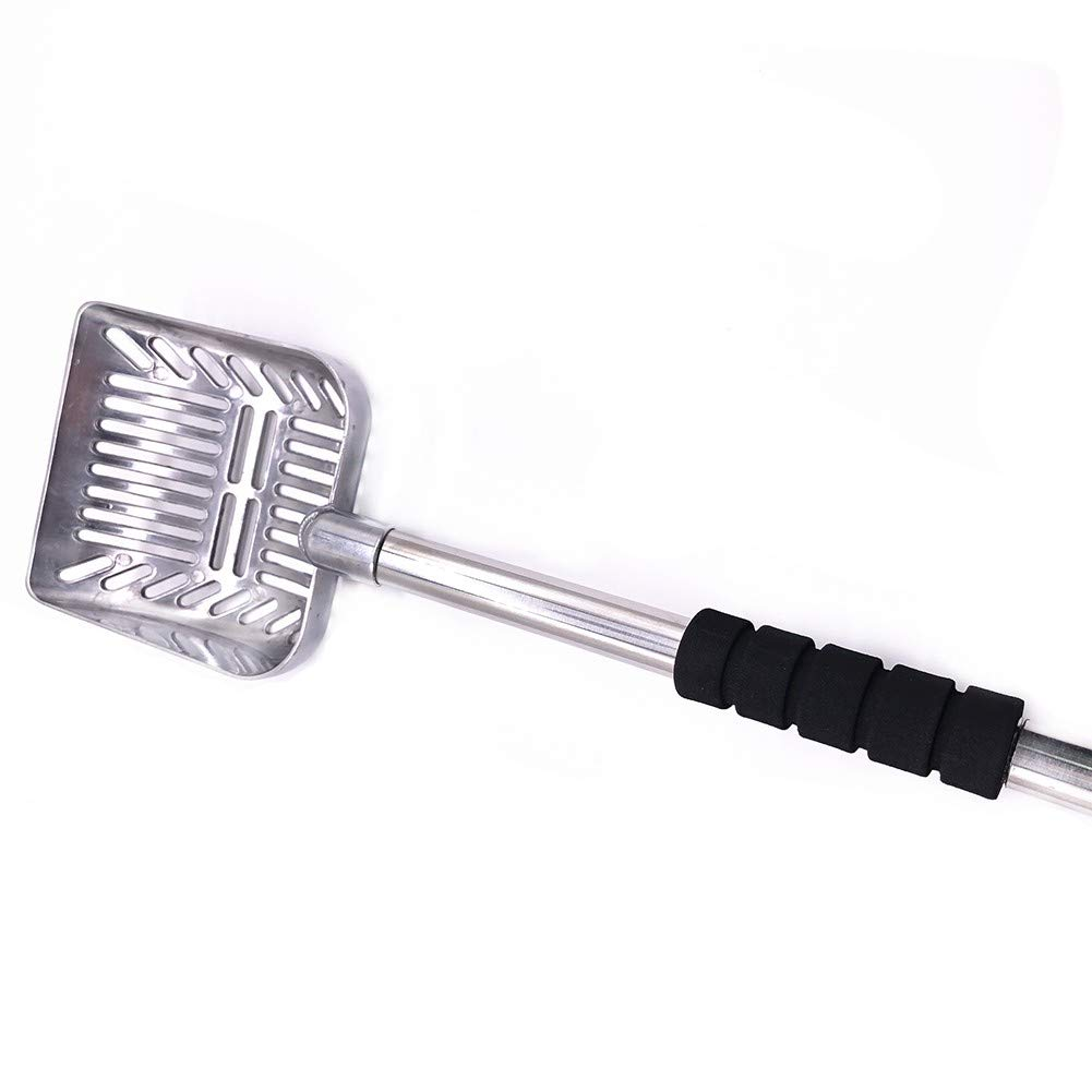 LJVOVN Tool Metal Utility Long Handle Cleaning Household Screen Detachable cat Litter Shovel Non-Stick deep pet Supplies Portable by LJVOVN