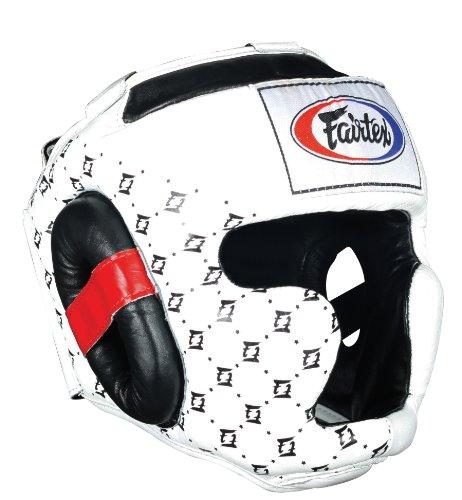 Fairtex Super Sparring Headguard, White, Large