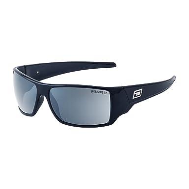 7587edc0f3 Dirty Dog Axe Black Axe Wrap Sunglasses Polarised Lens Category 3 Lens  Mirrored  Amazon.co.uk  Clothing
