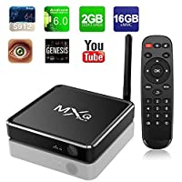 Refresh Your Life MXQ Android 6.0 Marshmallow 4K R12 TV Box Amlogic S912 Chipset [2G DDR3/16G eMMC] with 2.4G/5G Dual Band AC WIFI Antenna OTA Update Aluminum TV BOX