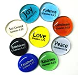 Fruit of the Spirit Glass Stones, 9 Beautiful Rocks, Each With a Word From the Galatians 5:22 Verse. Inspiring Christian Education Tool From Lifeforce Glass.