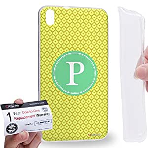 Case88 [HTC Desire 816] Gel TPU Carcasa/Funda & Tarjeta de garantía - Art Typography Fashion Alphabet P Style Art1259