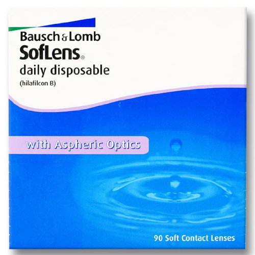 Soflens daily disposable Tageslinsen weich, 90 Stück / BC 8.6 mm / DIA 14.2 / -1,75 Dioptrien