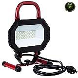 Perlite Lighting LFX/WL/30W/W 30-Watt Portable Work Light Black/Red Finish LED Fixture