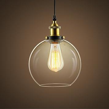 HEYUN& Creativa de vidrio para lámparas de techo blanco y ...