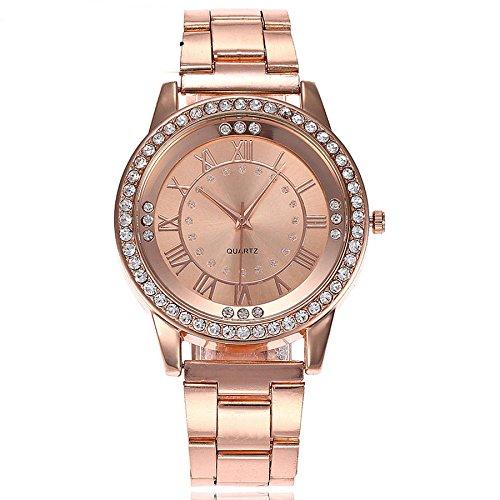 POIUDE-Reloj de Pulsera de Cuarzo analógico de Acero Inoxidable con Diamantes de imitación para Hombres: Amazon.es: Relojes