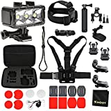 SHOOT 27-in-1 Diving Light Accessories Kit for GoPro Hero 6/5/4/3+/3/5 Session/4 Session/HERO(2018)/Fusion Campark AKASO FITFORT Action Camera,Waterproof Diving Light,Carrying Case,Floaty Bar