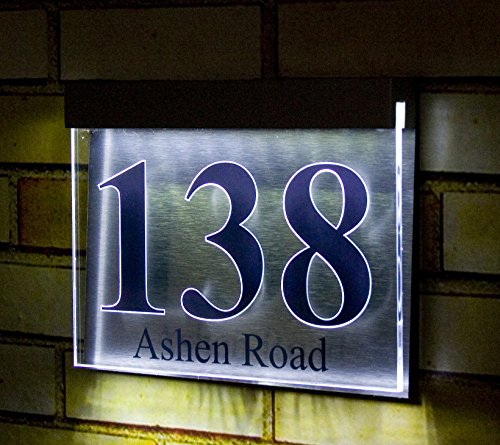 led light acrylic designer house number plaque - buy online in uae
