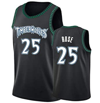 the best attitude ecadd de4d7 Derrick Rose,Basketball Jersey,Timberwolves,Black,Classic Edition,New  Fabric Embroidered,Swag Sportswear