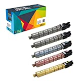 Do it Wiser Compatible Toner Pack 2Black Cyan Magenta Yellow For Ricoh Aficio Savin Lanier MP C305 MPC305 MP C305SP MPC305SP MP C305SPF MPC305SPF - 841621 841591 841592 841593 - (5 Pack)
