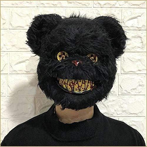 zhongleiss Máscara de Conejo látex Horror Tocado de Halloween Oso ...